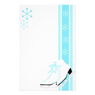 Snowflake Ice Skates Customized Stationery