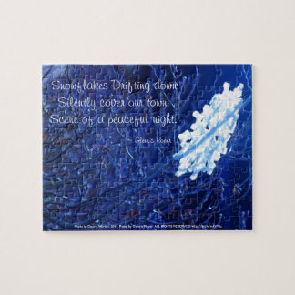 snowflake in blue 7 haiku jigsaw puzzle