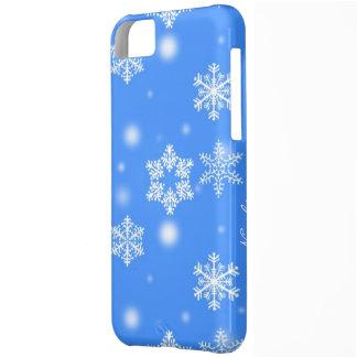 Snowflake iphone 5 cover custom name