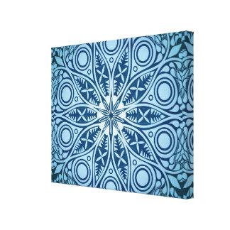 Snowflake kaleidoscope pattern canvas print