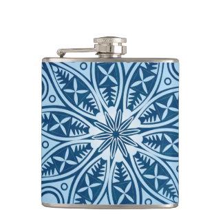 Snowflake kaleidoscope pattern flask