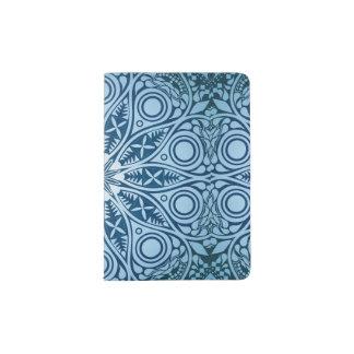 Snowflake kaleidoscope pattern passport holder