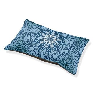 Snowflake kaleidoscope pattern pet bed