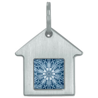 Snowflake kaleidoscope pattern pet ID tags