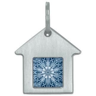 Snowflake kaleidoscope pattern pet name tag