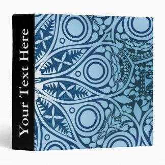 Snowflake kaleidoscope pattern vinyl binder