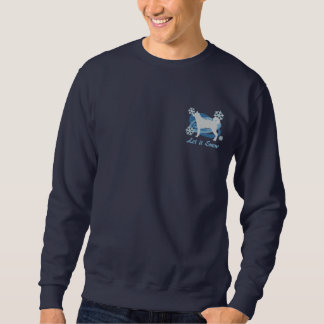 Snowflake Karelian Bear Dog Embroidered Sweatshirt