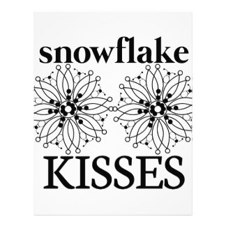 Snowflake Kisses Custom Letterhead