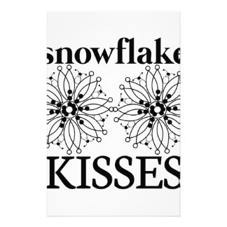 Snowflake Kisses Stationery Design