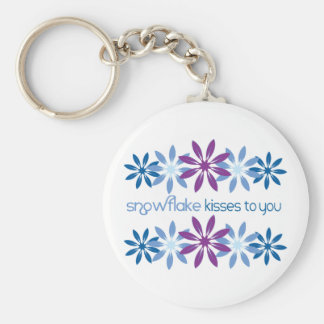 Snowflake Kisses To You Keychain