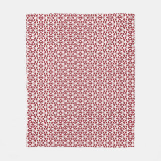 Snowflake Lace Red and White Fleece Blanket