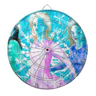 Snowflake ladies dartboard