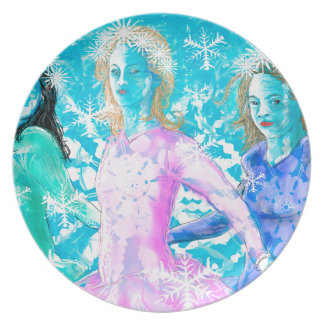Snowflake ladies plate