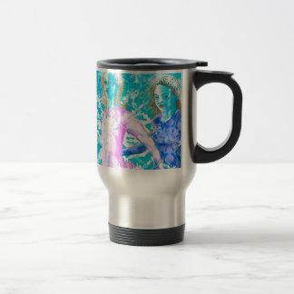 Snowflake ladies travel mug