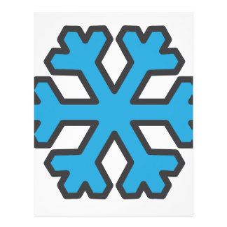 snowflake personalized letterhead