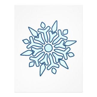 Snowflake Letterhead Template