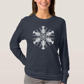 Snowflake Long Sleeve Tee-Shirt T-Shirt