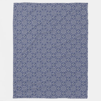 Snowflake Mandala Fleece Blanket Blue