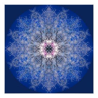 Snowflake Mandala Poster