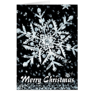 Snowflake Merry Christmas special Card