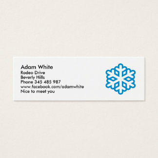 Snowflake Mini Business Card