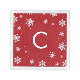 Snowflake Monogram Cookie Tray Hostess Gift