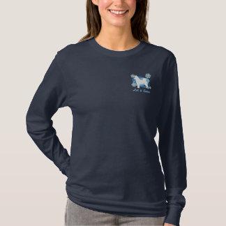 Snowflake Norwegian Elkhound Embroidered Shirt
