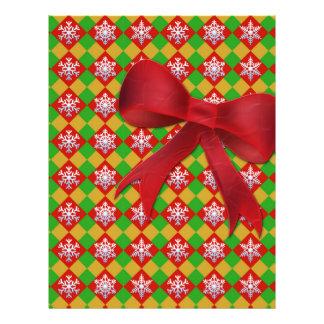 Snowflake on Argyle Personalized Letterhead