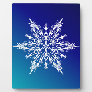SNOWFLAKE  on Blue Plaque