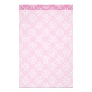 Snowflake on Pink Customized Stationery