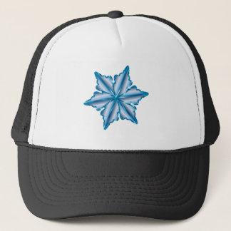 Snowflake On White Trucker Hat