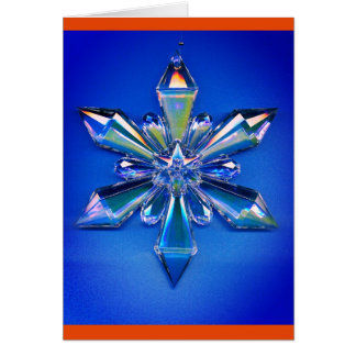 Snowflake Ornament Christmas Holiday Blue Card
