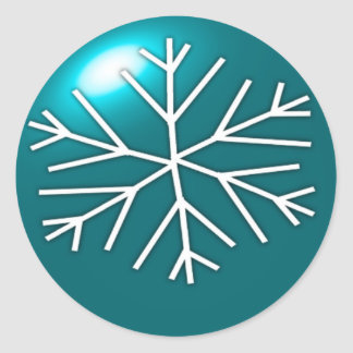 Snowflake Ornament Classic Round Sticker