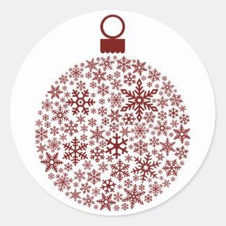 Snowflake Ornament Stickers