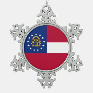 Snowflake Ornament with Georgia Flag