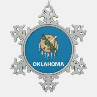 Snowflake Ornament with Oklahoma Flag