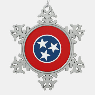 Snowflake Ornament with Tennessee Flag