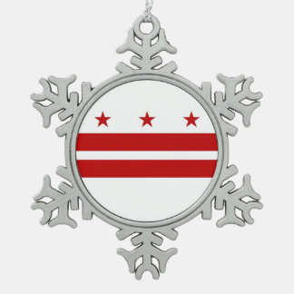 Snowflake Ornament with Washington DC Flag