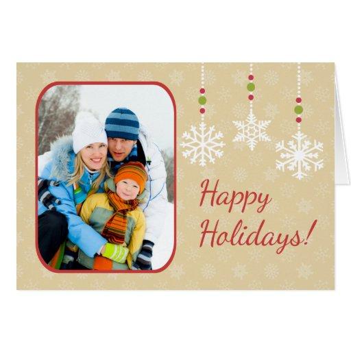 Snowflake Ornaments Folded Christmas Card