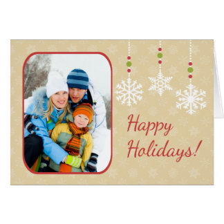 Snowflake Ornaments Folded Christmas Greeting Card