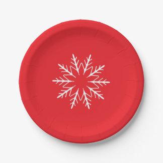 Snowflake Paper Plate