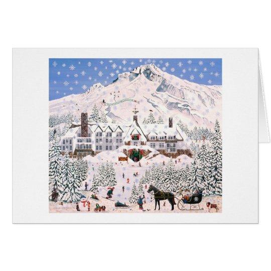 Snowflake Paradise ~ Timberline Lodge Mount Hood Card