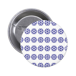 Snowflake Pattern 2 Inch Round Button