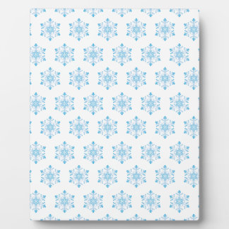 Snowflake Pattern Background Plaque