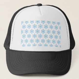 Snowflake Pattern Background Trucker Hat