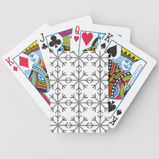 Snowflake  pattern - black and white. bicycle playing cards