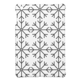 Snowflake  pattern - black and white. iPad mini cases