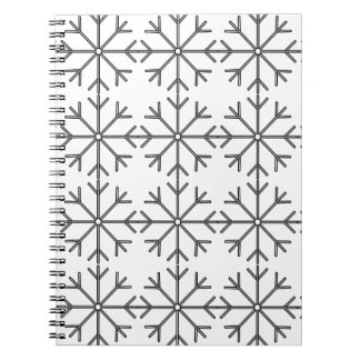 Snowflake  pattern - black and white. notebook