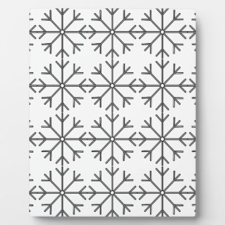 Snowflake  pattern - black and white. plaque