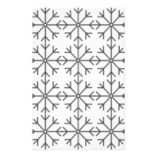 Snowflake  pattern - black and white. stationery
